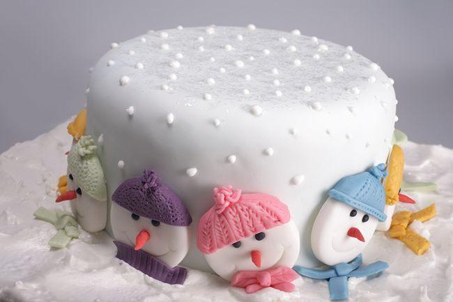Головы снеговиков из мастики