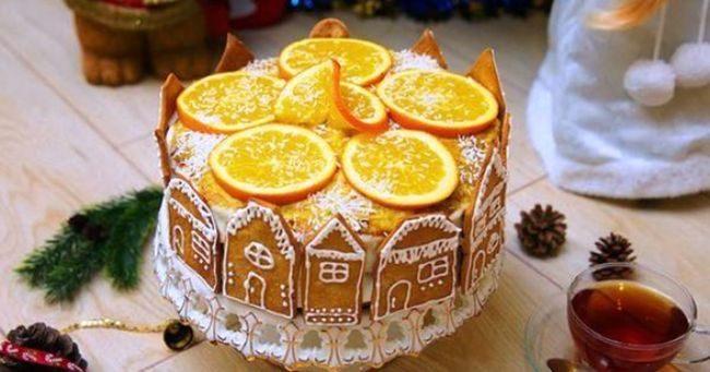 С дольками апельсина