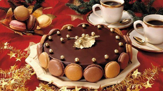 Шоколадные макароны
