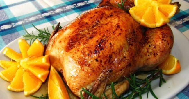 Запеченная курица на Новый год