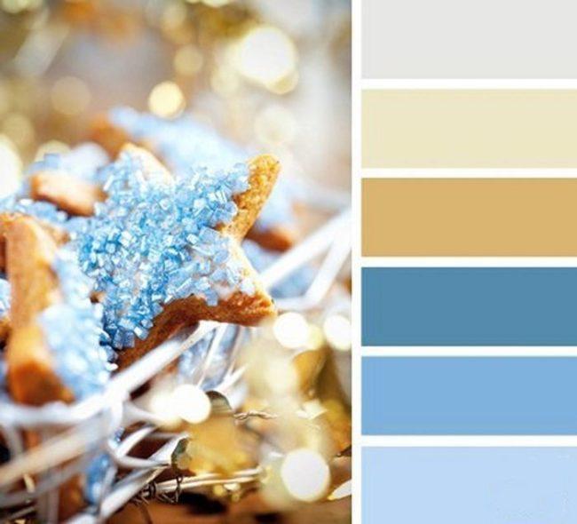 голубая палитра для праздника