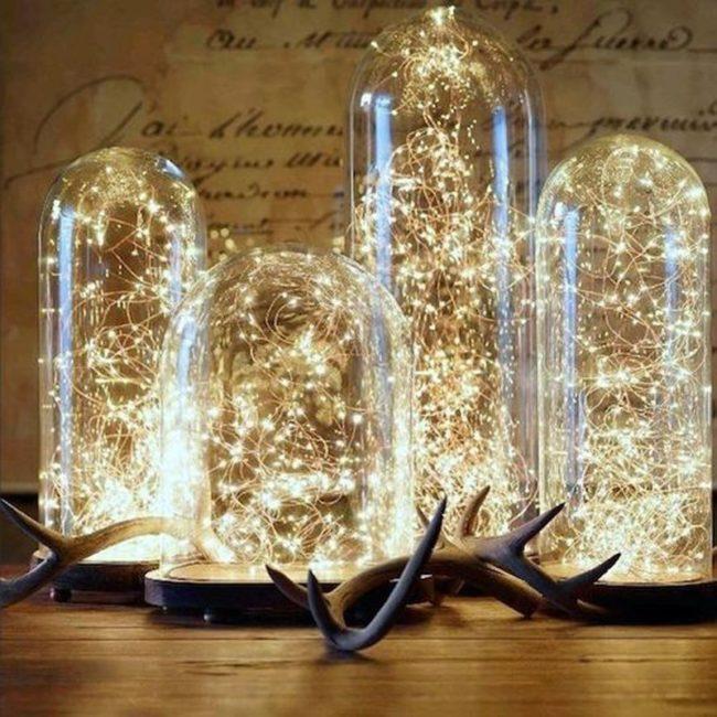 Новогодние свечи на окнах
