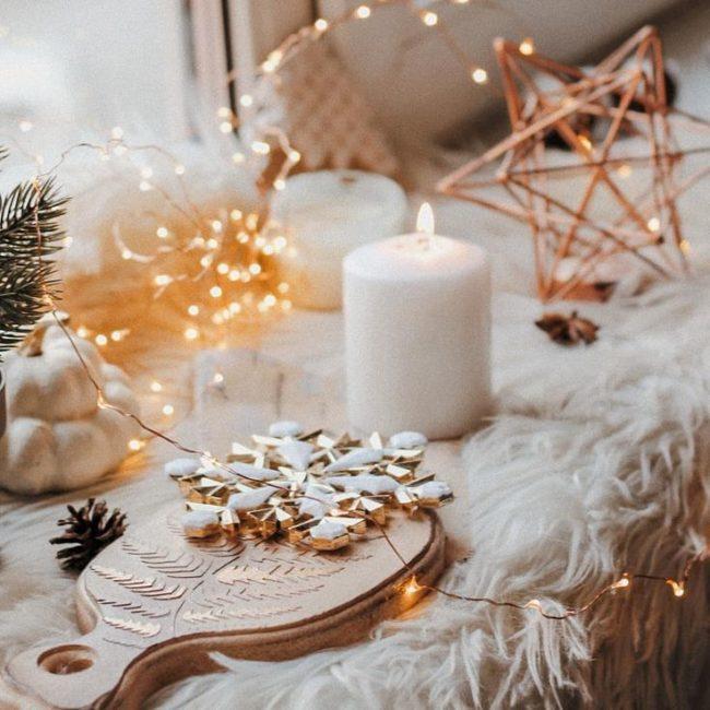 Свечи на Новый год, фото