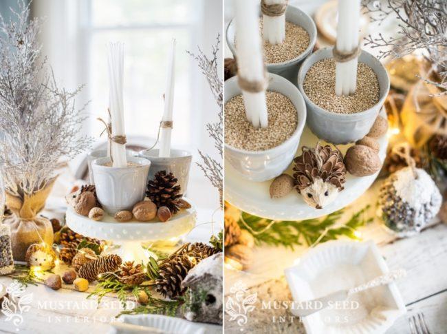 рустикальный стиль стола на Новый год