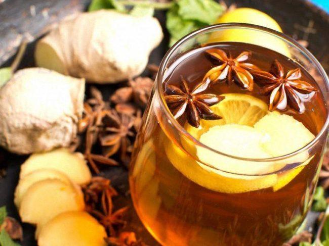 Новогодний напиток Имбирный чай