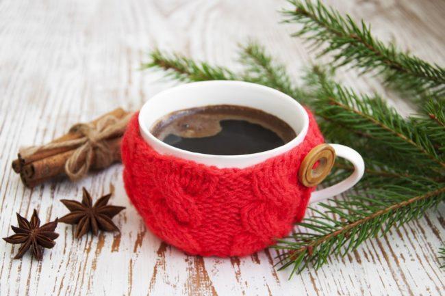 чашка крепкого черного кофе