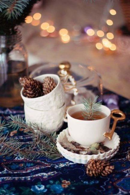 чай в Новый год
