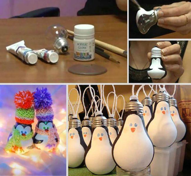 новогодние пингвины