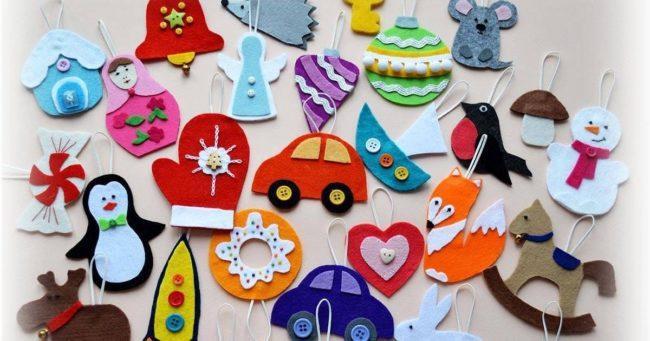 фетровые новогодние игрушки