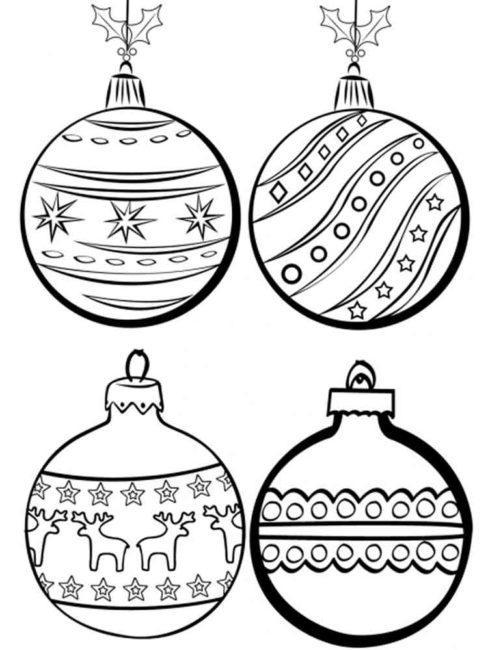 раскрашивание шариков на новый год