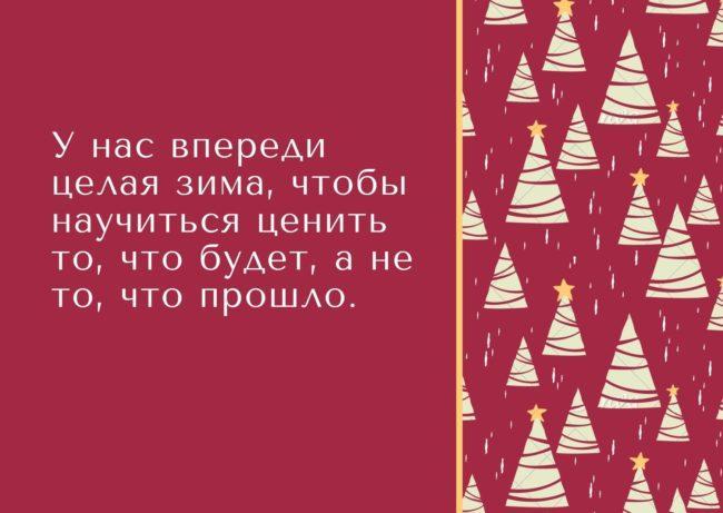 красивая фраза о зиме