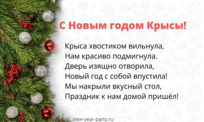 Прикольные открытки на Новый год Крысы