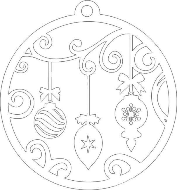 новогодний шар шаблон