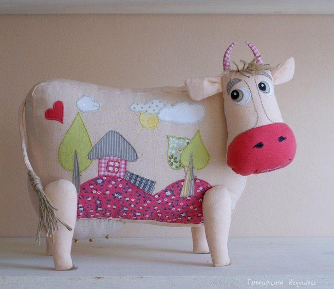 рукодельная корова