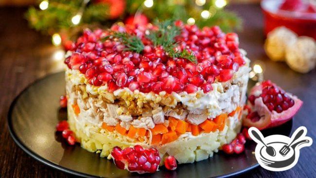 красивый салат для новогоднего меню