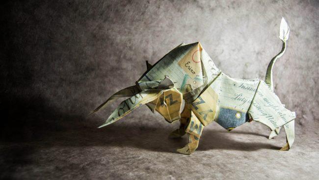 Бык оригами на Новый год 2021, как сделать