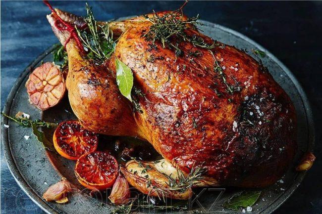 ароматная курица на год Быка