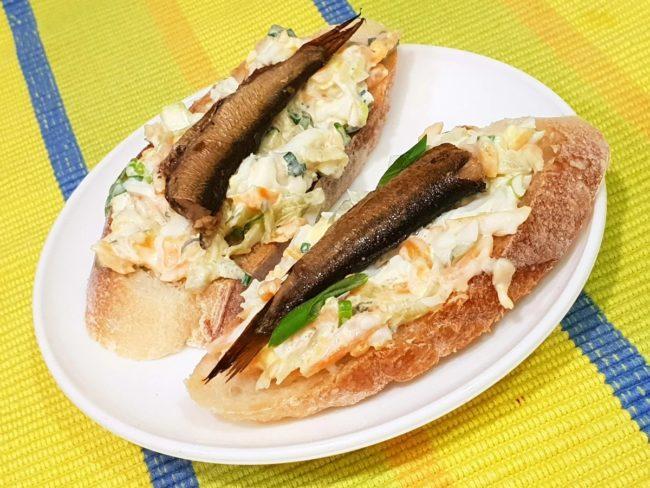 Вкусные новогодние бутерброды