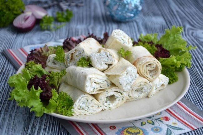 с сыром и зеленью