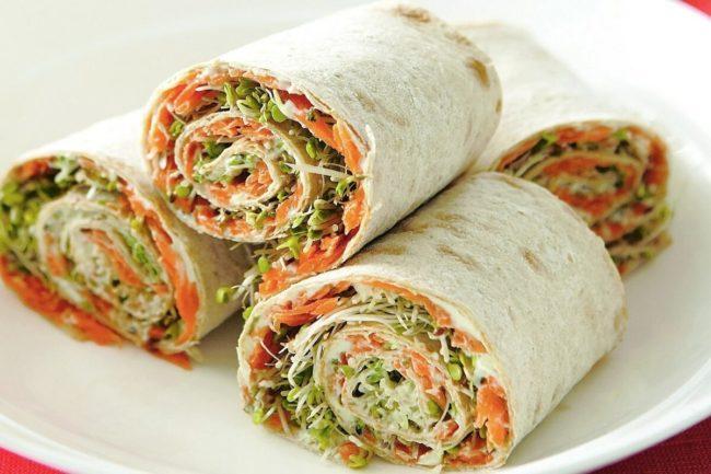 вегетарианский рецепт роллов
