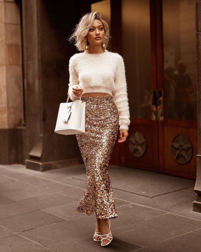 красивые новогодние юбки для девушек