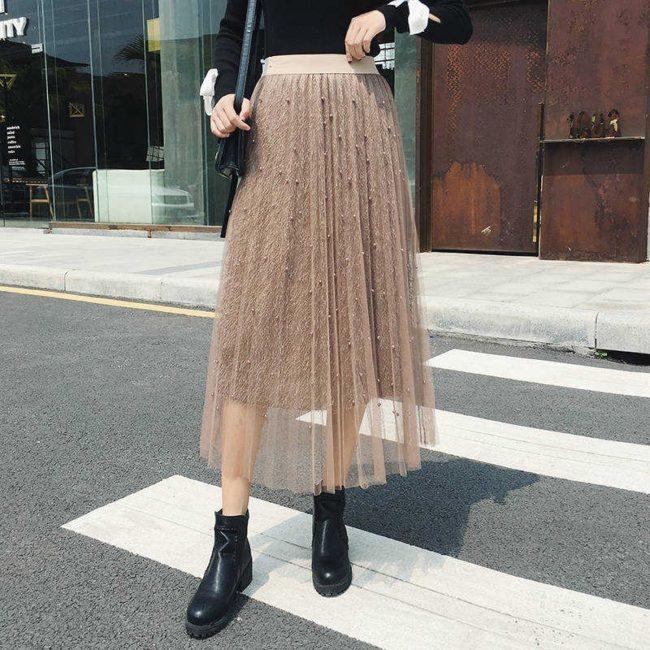 двухслойная нарядная юбка