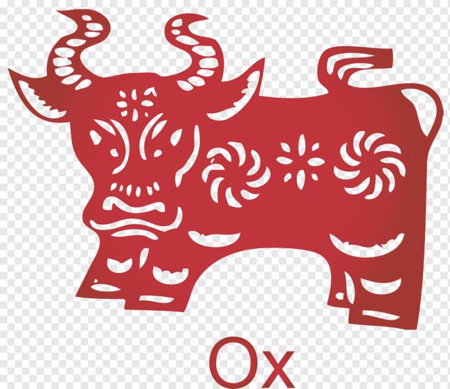 Вырезаем быка на новый год 2021
