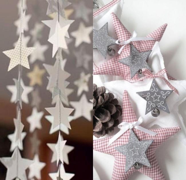 использование трафарета звезды