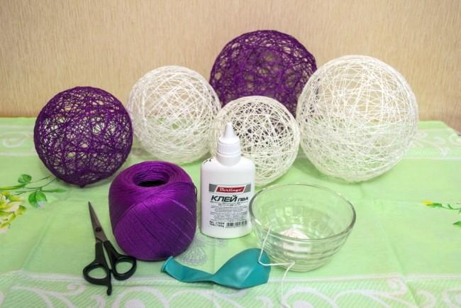 Материалы для изготовления новогодних шаров