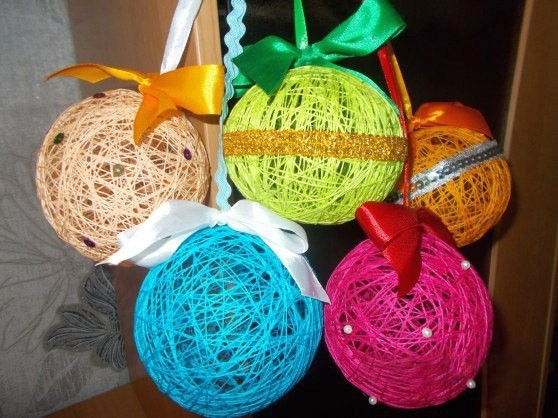 Готовые новогодние шары