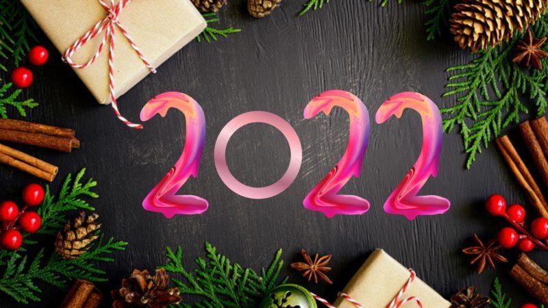 """Красивые надписи """"С Новым годом 2022"""