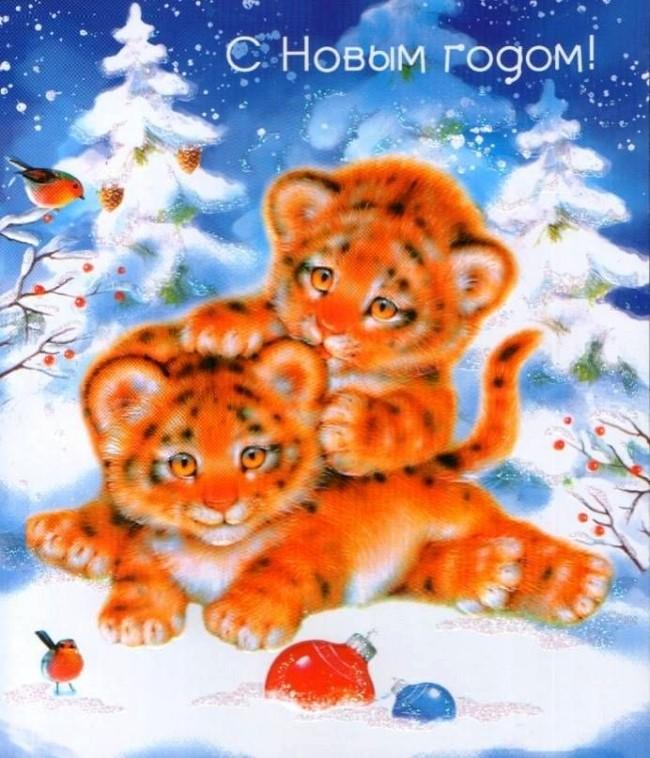 новогодние тигрята