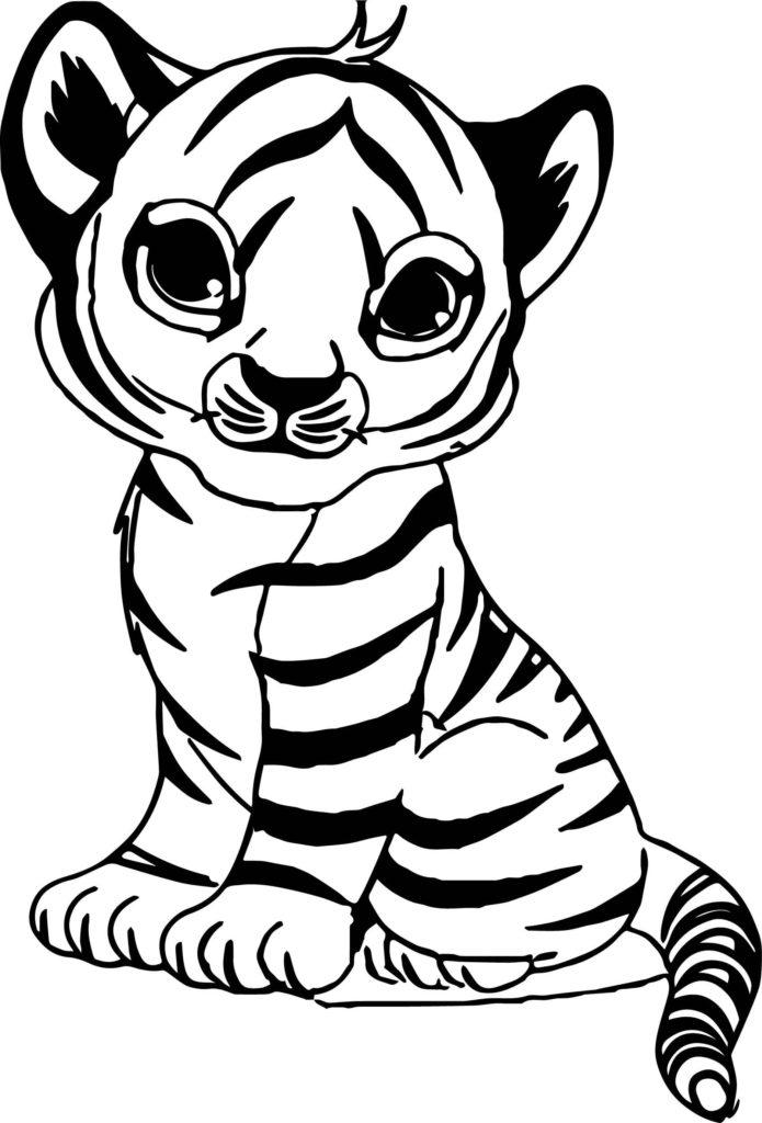 скачать бесплатные раскраски Тигра
