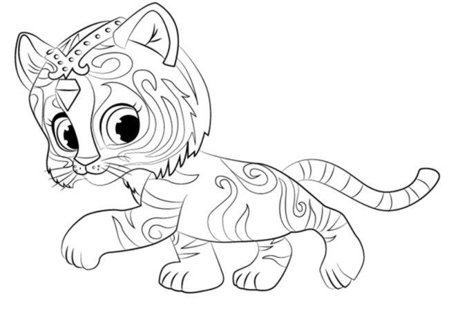 Красивые раскраски Тигра