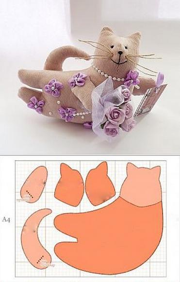 шаблон и схема для вырезания из ткани