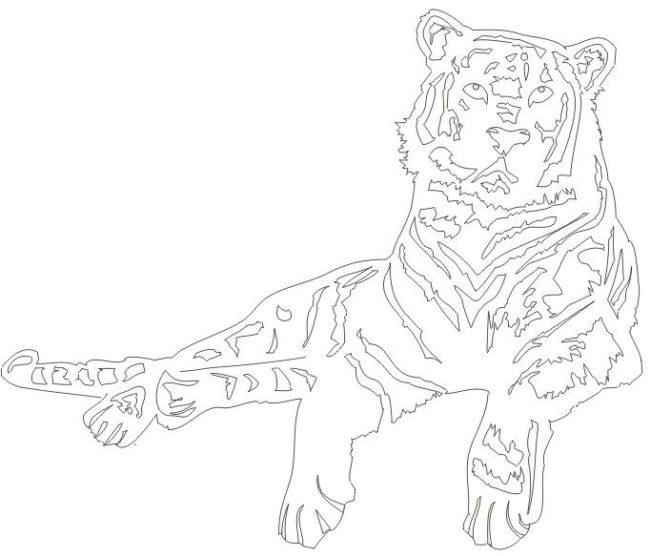 Шаблон Тигра для вырезания