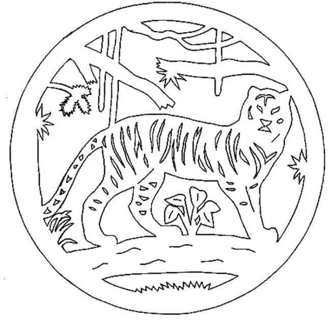 Вытынанка Тигра
