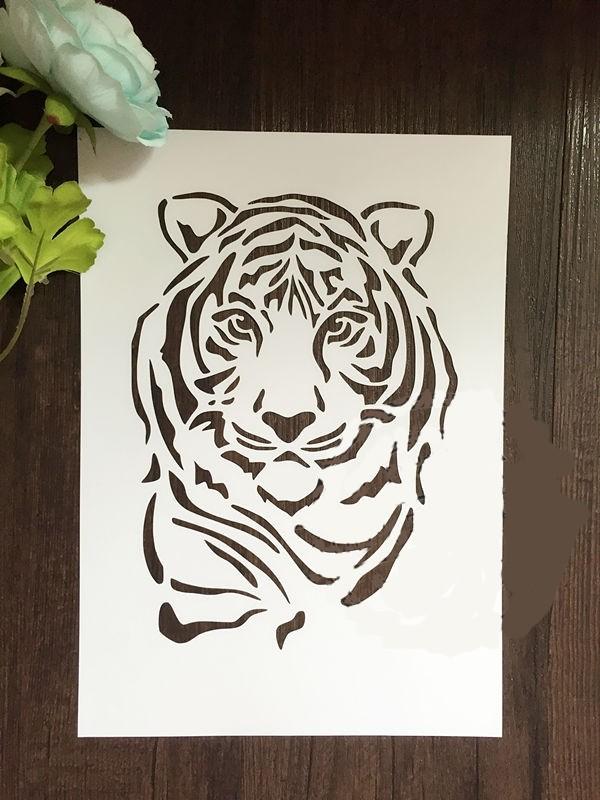 Шаблон вытынанки Тигра на окно