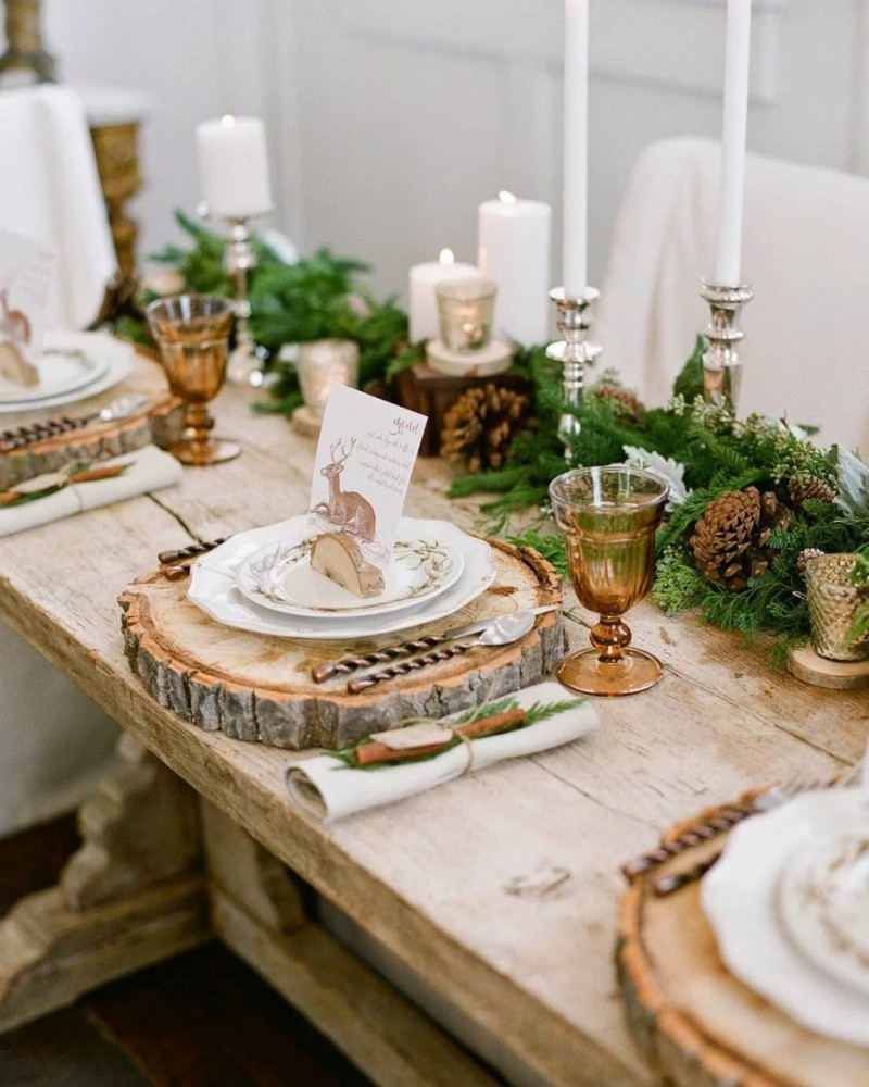 деревянный новогодний декор