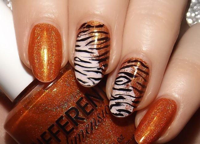 Тигриный маникюр