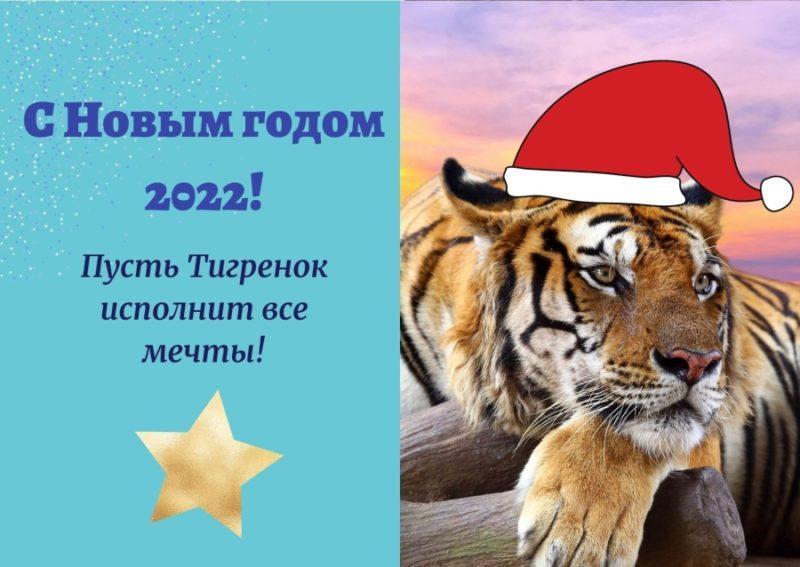 Открытка на год Тигра