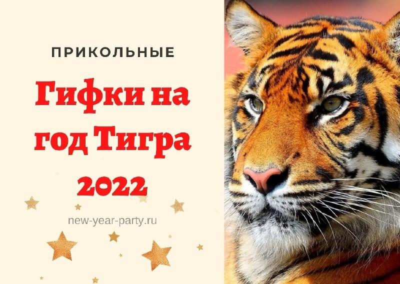 прикольные гифки на год Тигра 2022