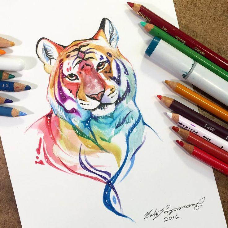 Рисунок Тигра символа 2022 года