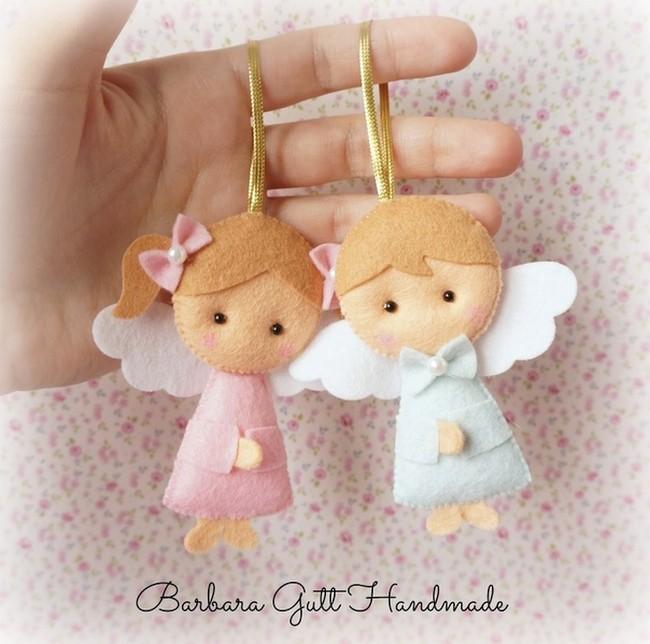 фетровые дети с крылышками
