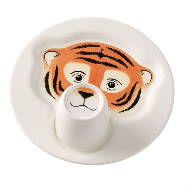 тигр из бумажной тарелки