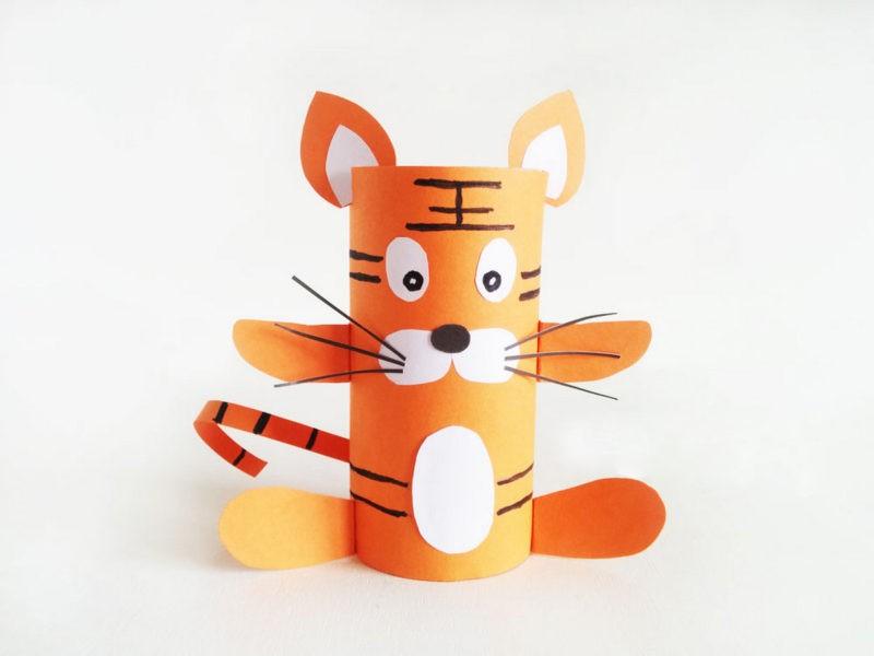 тигр из бумаги своими руками