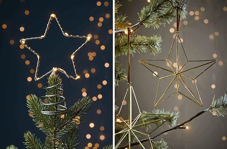 красивая звезда на елку из проволоки