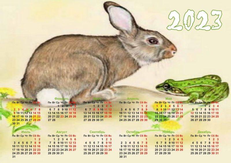 Календари на год Кролика 2023