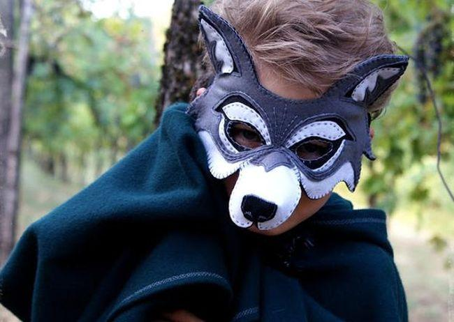 Шаблон маски волка
