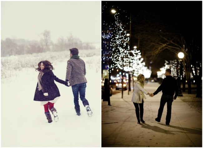 свидание и фото на улице